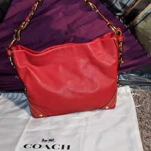 Red Coach Carly purse